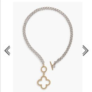 Talbots convertible clover necklace